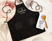 Kitchen Gifts for Her - Hostess Gift Ideas - Personalized Apron for Women - Baking Gift Cooking Gift Custom Aprons Personalized (EB3242CTW) photo