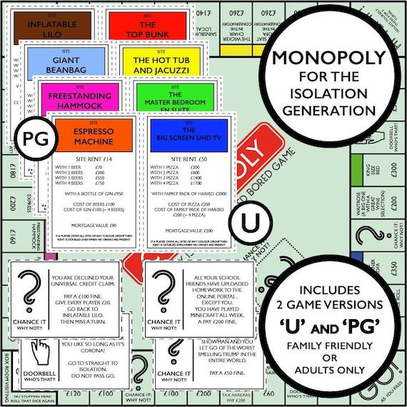 Netflix Monopoly Besitzrechtkarten Vorlage 1
