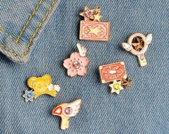 Sakura Enamel Pin, Cardcaptor Enamel Pin, Key Enamel Pin, Cartoon Enamel Pin, Anime Enamel Pin, Wings Enamel Pin, Pin Gift Idea