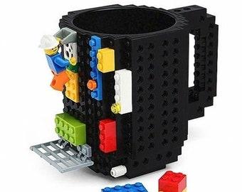 Building Block - Coffee Mug - Fun Gift Idea - Build on Brick - Toy Cup - Party Supply Drinkware - DIY Blocks