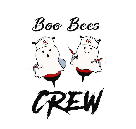 Boo Bees Crew Nurse Svg Etsy