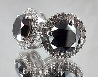 Earrings 14K White Gold with Diamonds