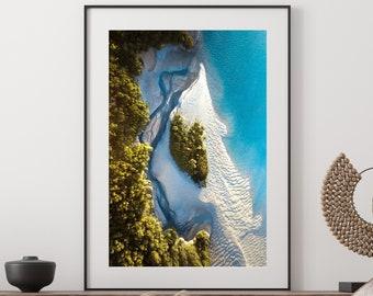 Blue Ocean Print, Aerial photography beach poster, Abstract Print, Ocean Wall Decor, Beach wall art from Western Australia