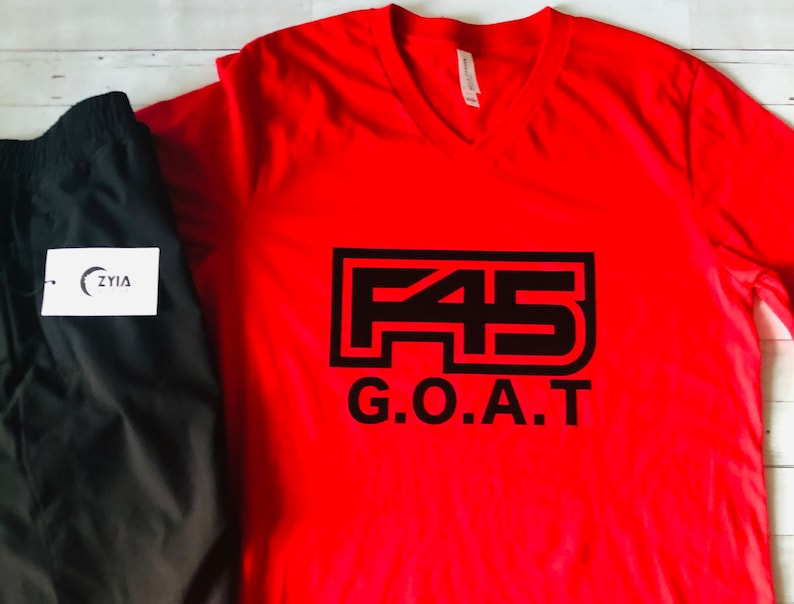F45 GOAT work out t-shirt Fitness shirt Unisex Father/'s Day