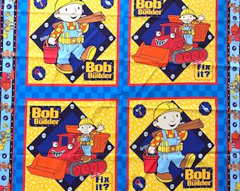 Bob The Builder quilting cotton panels - 100% cotton - Quilting panel- sewing panel - Bob the builder fabrics