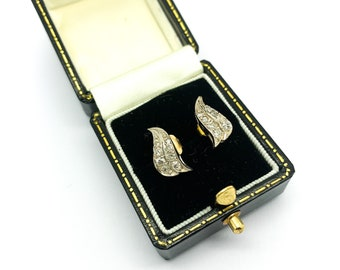 Antique Edwardian Diamond Earrings with New Posts in 9ct Gold & Silver