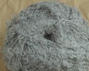 Doll yarn mohair curls grey - 50g balls - doll hair teddy fur