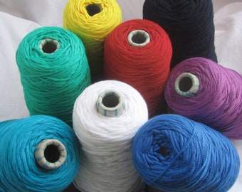 Ribbon yarn on coils/cones - clear colors - viscose with polyester - knitting crochet macrame