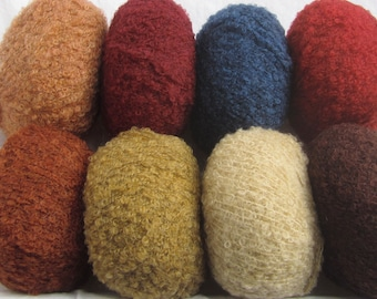 Bouclé wool FUSION by Austermann - fine and light bouclé yarn for knitting and crocheting - wool and yarn