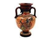 Ancient Greek Vase 13cm,Multicolored Amphora ,Showing God Zeus