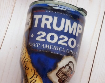 Personalized Distressed Trump Tumbler