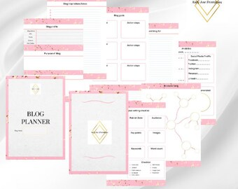 Blog planning worksheets for the blogger