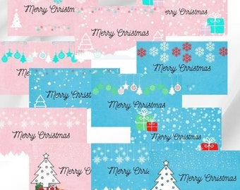 Christmas gift tags to print at home, Family pack of 12, 4 girls, 4 boys, 4 adult