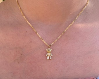 Necklaces Teddy bears  Necklaces Gold plated  Polimer Necklaces  Charm Necklace  Hamsa Necklaces
