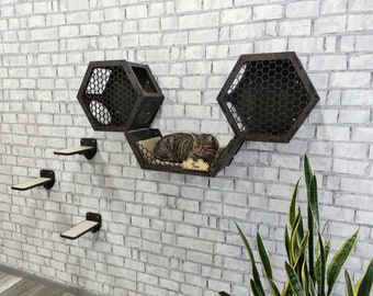 Cat wall furniture, Cat wall shelves, Cat shelves, Cat tree, Cat furniture, Cat furniture wall, Cat wall furniture set, Wall cat furniture
