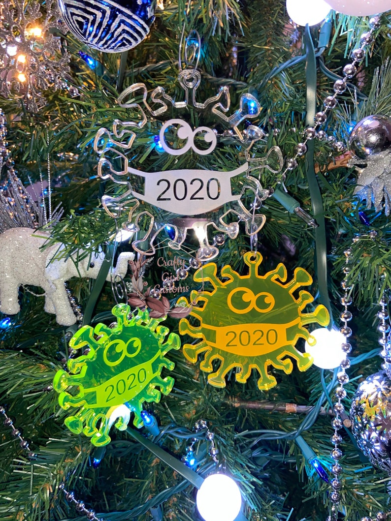 COVID Ornament COVID 19 Pandemic Germ 2020 Coronavirus Christmas Ornament