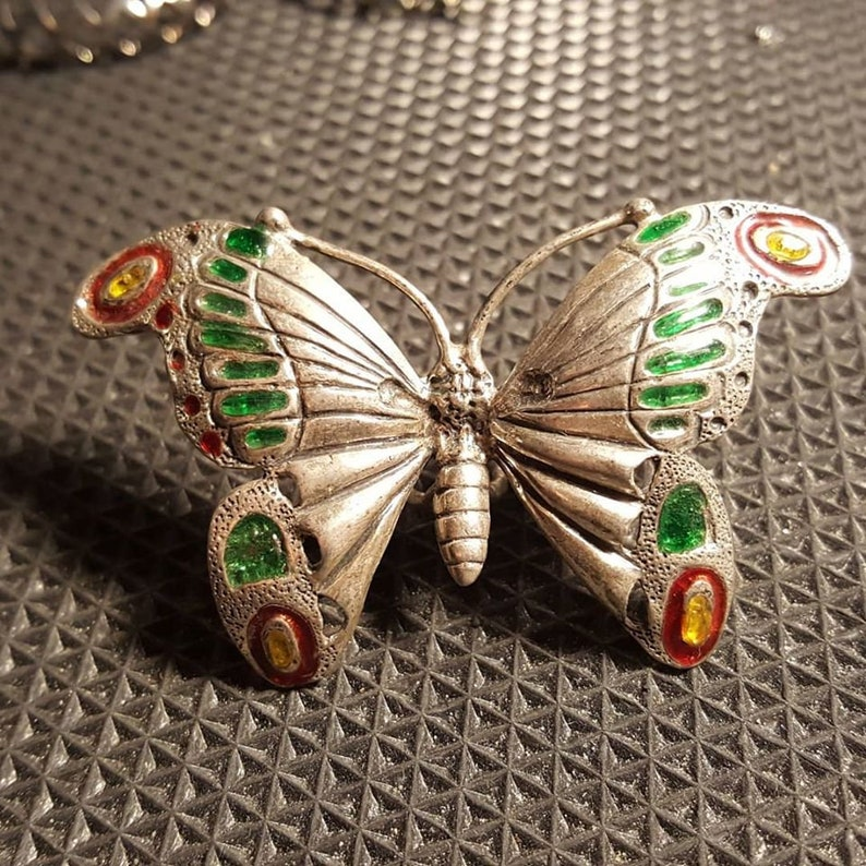 Hand made sterling silver butterfly