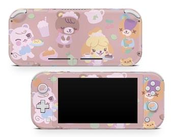 Animal Crossing New Horizons Nintendo Switch Lite Vinyl Skin Pastel Pink Solid Colors Nintendo Lite Art Switch Sticker Gaming Switch Decal
