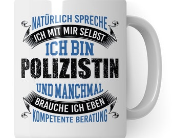 Cup police, gift ideas for cops, mug policewoman gift coffee mug, training funny police officer coffee mug