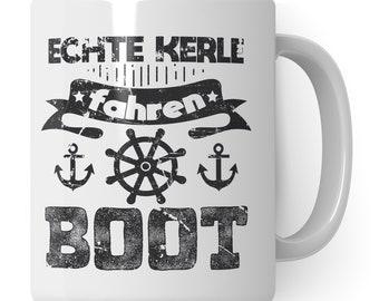 Boat Gift Coffee Mug Boater Cup Boating Gift Idea Motorboat Men Sailing Ship Coffee Cup Boat Owner Mug Motif