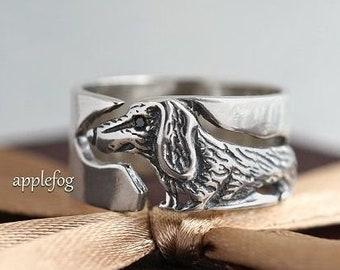 Ring Cat Kitten-silver ring-animal ring-gift ring-individual ring-elegant ring-author/'s work-fashion accessories-beautiful ring