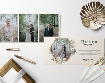 Wedding thank you cards incl. envelope | Wedding Card | Wedding Thanksgiving