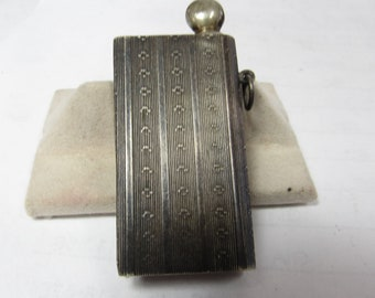 VICTORIAN MATCH STRIKER Solid Sterling Silver engraved made in Germany