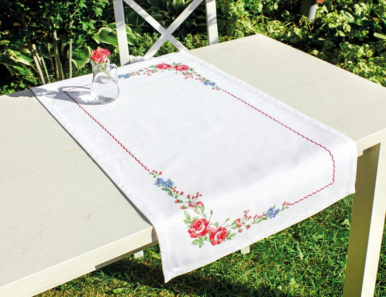 Embroidery Size 65x36 cm Cross Stitch Kit Luca-S  FM011 Table Runner 75x46 cm