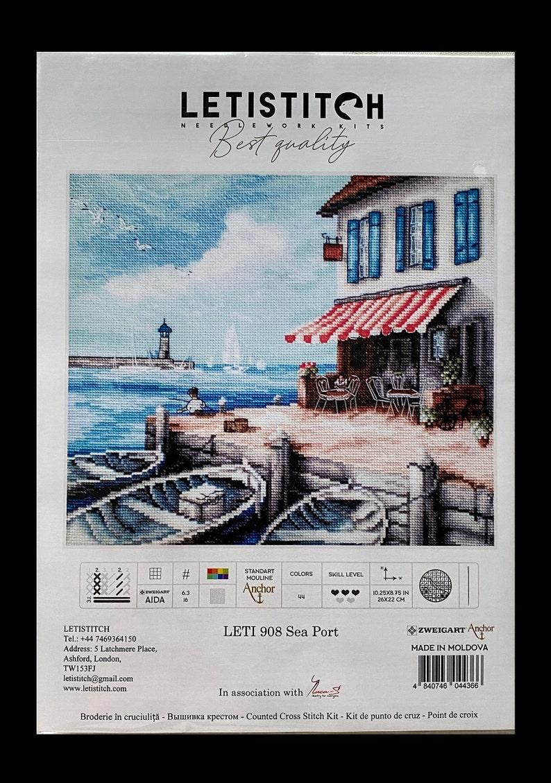 LetiStitch  LETI 908 Sea Port  Cross Stitch Kit