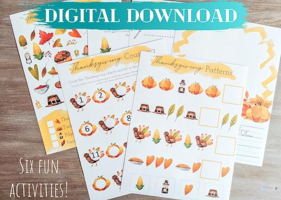Thanksgiving Activity Digital Download Thanksgiving Activity