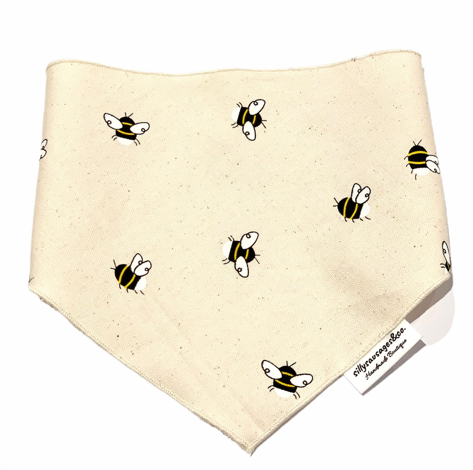 Dog bandana with bee print