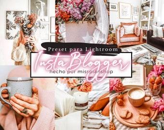 Instagram Blogger PRESET for Lightroom, Filter for Instagram, influencer preset, Lifestyle, Flatlay, Travel, missplanstore