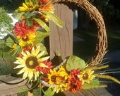 Hello Sunshine Summer Fall Wreath