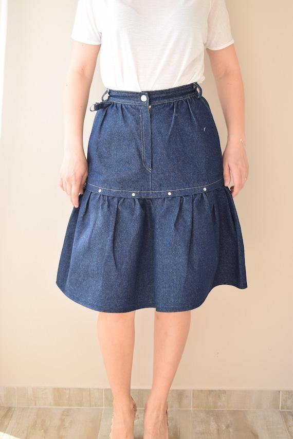 80s Vintage Skirt,  Womens Vintage Skirt, xxs SKIR