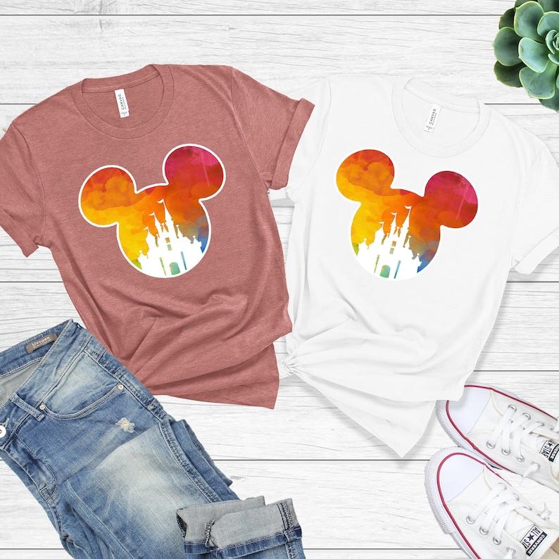 Mickey Shirts Disney Shirts Minnie Shirt Disneyworld T-Shirt Unisex Shirts for Women Disney Castle Shirt Disney Shirt For Women