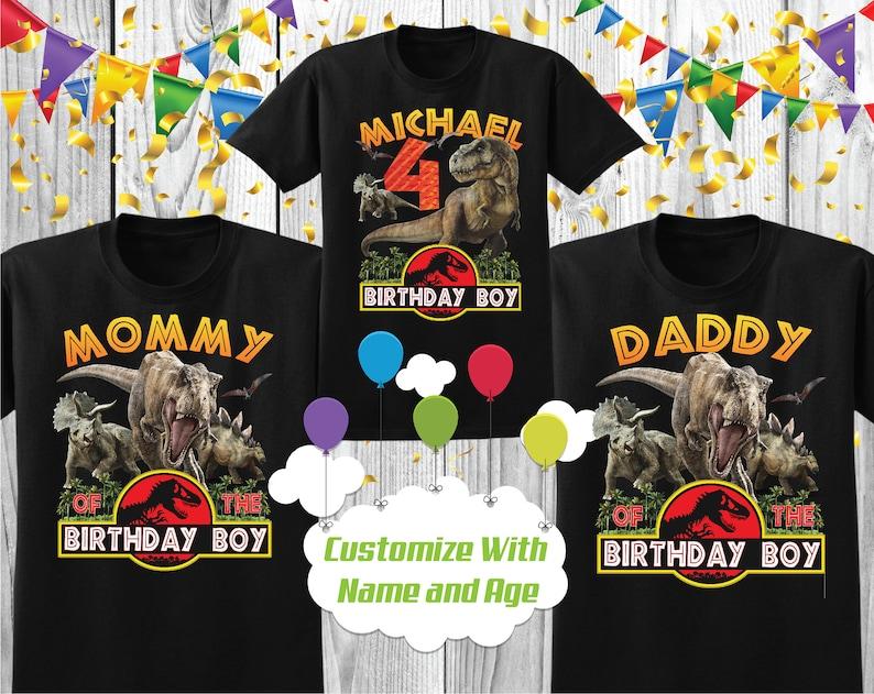 Jurassic Park Custom Birthday Boy Shirt Jurassic park Bday tshirt Jurassic Park Birthday shirt for Boy and Girl Dinosaur Birthday Shirt