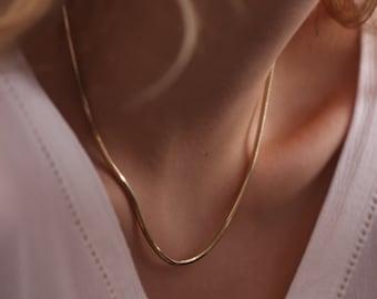 14k Gold Snake Necklace / Handmade Gold Snake Necklace / Gold Snake Chain Available in Gold, Rose Gold and White Gold