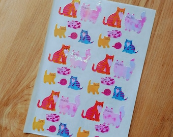 Sandylion Sticker Vintage 80/'s 90/'s Rare Pearly Cats  Butterflies