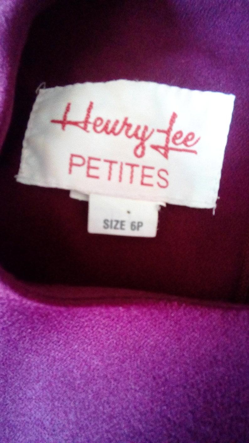 1960s Henry Lee Petites fushia dress