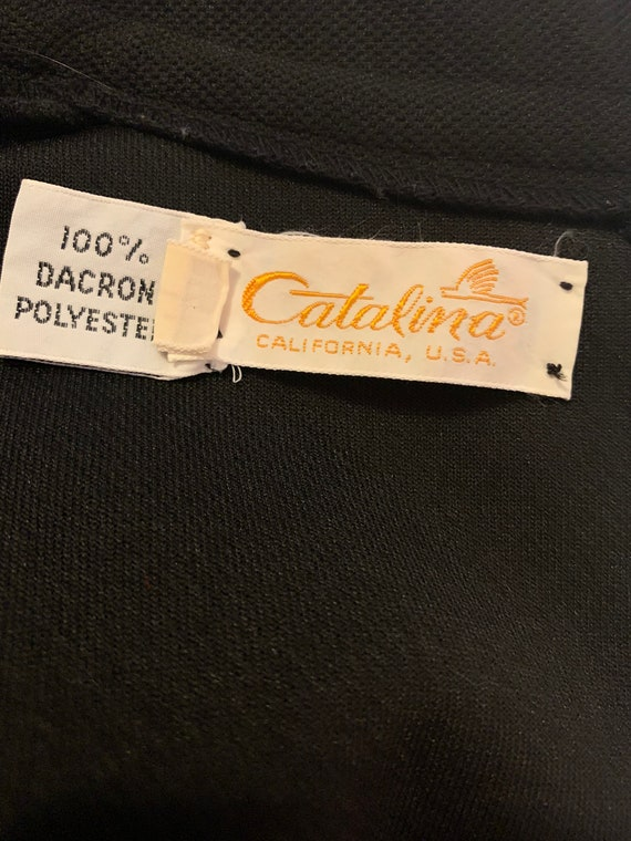 Catalina California Vintage Black Polyester Dress - image 8