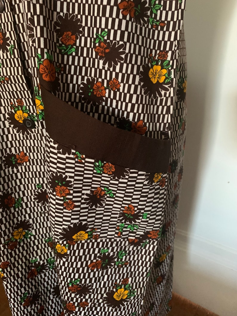 Cotton Floral House Dress With Pockets