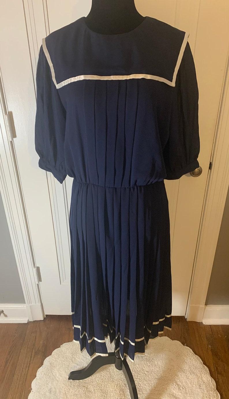 Joan Leslie Vintage Navy Dress