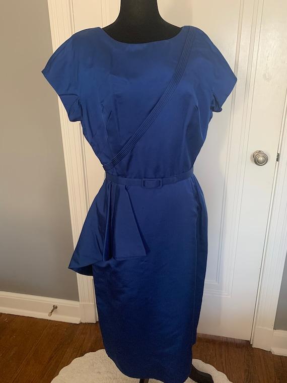 Brown Dress Original Blue Asymmetrical Dress