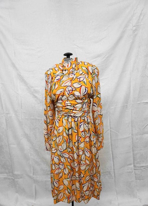 Adele Simpson Neiman Marcus Vintage Silk Dress