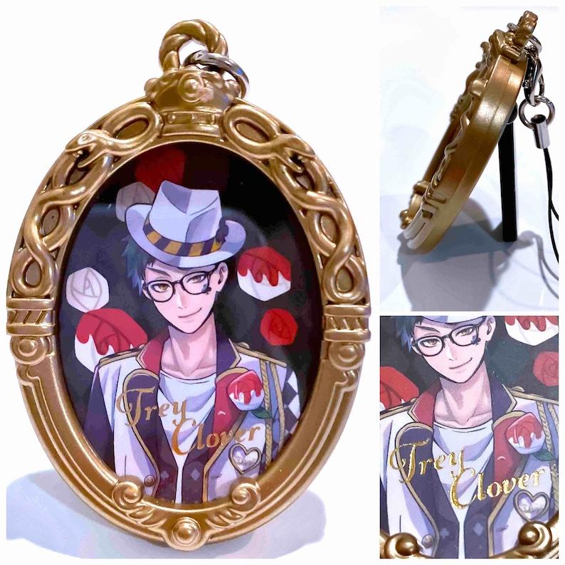 Disney Twisted Wonderland Heartslabyul OFFICIAL DUAL usage photo frame keychain  charm   phone strap accessory BANDAI