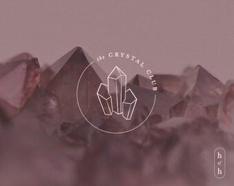 Crystal Logo, Reiki Logo, Tarot Logo, Magic Design, Premade Logo, Minimal Design, Logo Design, Hand Drawn Logo, Handdrawn, Metaphysical Logo