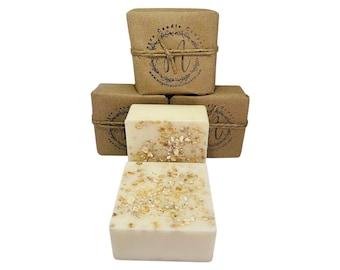 Honey Oatmeal Goat Milk Soap 5oz Bar—NO FRAGRANCE OIL