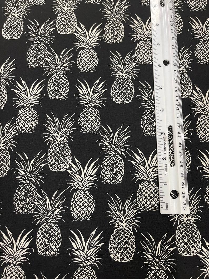 Black /& Light Blue Black Hawaiian Pineapple 100/% Cotton Hawaii Cotton Fabric by the Yard