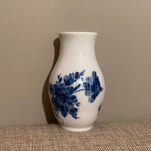 Danish Design Pair of Porcelain Candlesticks Royal Copenhagen Blue Flowers  Bla Blomster # 1711