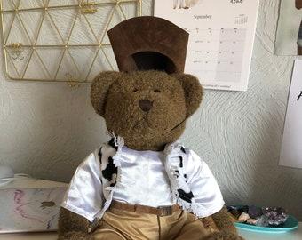 Super cute, original Bear Factory full cowboy costume for build-a-bear and BF bears